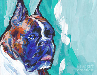 Brindle Boxer Baby Art Print by Lea S
