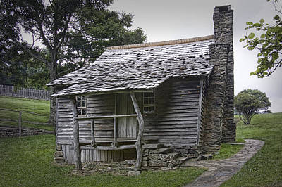 Log Cabin Art Photograph - Brinegar Cabin In The Blue Ridge Parkway by Randall Nyhof