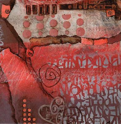 Abstract Collage Mixed Media - Bring It To The Surface by Laura  Lein-Svencner
