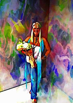 Digital Art - Bringing Hippie Back by Carrie OBrien Sibley