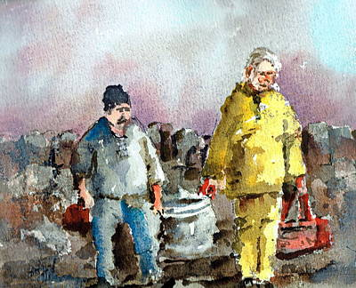Painting - Bringing Home The Catch by Val Byrne