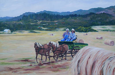 Painting - Bringing In The Harvest by Donna Drake