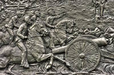 Bringing Up The Battery Detail-a 6th New York Independent Battery Horse Artillery Gettysburg Autumn Art Print by Michael Mazaika