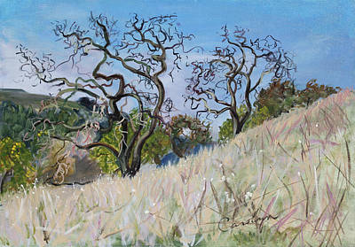 Painting - Briones Park  Winter Trees by Asha Carolyn Young