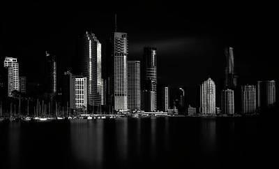 Keys Photograph - Brisbane City Of Light by Steven Fudge