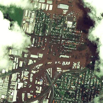 Floods Photograph - Brisbane Floods by Digital Globe