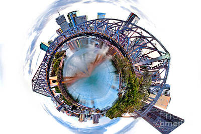 Round Photograph - Brisbane Skyline 1 by Az Jackson