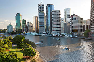 Adam Photograph - Brisbane Skyline, Queensland, Australia by Peter Adams