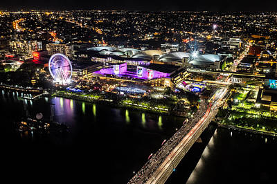 Photograph - Brisbane South Bank From The 32nd Floor by Peta Thames