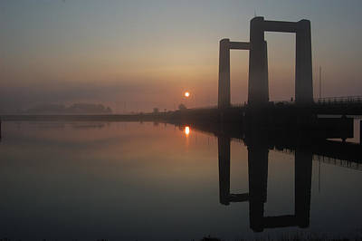 Sheppey Photograph - Brisge At Dawn by Brian Holmes