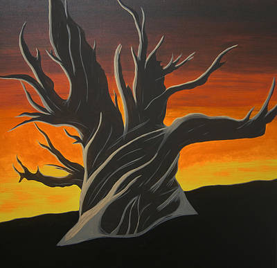 Painting - Bristle Cone Pine At Dusk by Drew Shourd