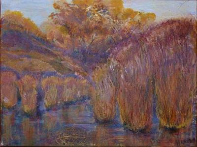 Painting - Bristling Rushes by Helen Campbell