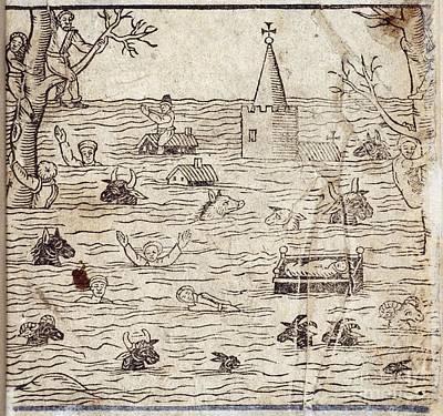 Bristol Channel Floods, 1607 Print by British Library