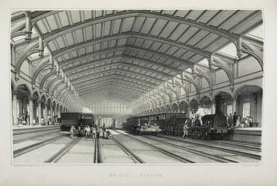 The Railway Station Photograph - Bristol Station by British Library