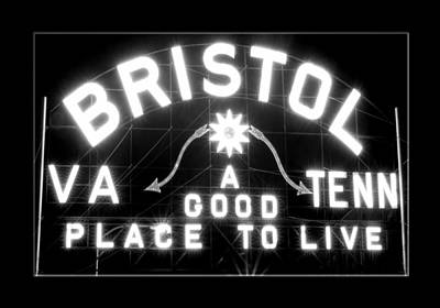 Bristol Virginia Tennesse Slogan Sign Art Print