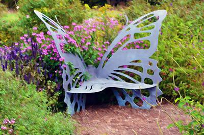 Bristow Butterfly Garden Art Print