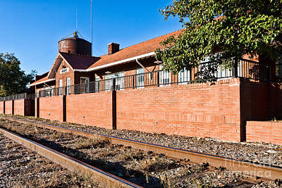 Photograph - Bristow Oklahoma Train Depot by Lawrence Burry