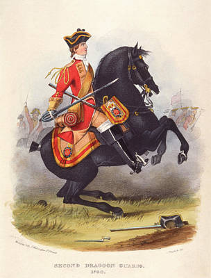 Britain  A Member Of The Second Dragoon Art Print by Mary Evans Picture Library