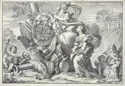 Britannia And Cherubs Art Print by British Library