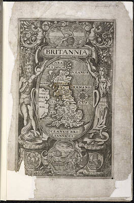 Cartographic Photograph - Britannia - Map Of Great Britian by British Library