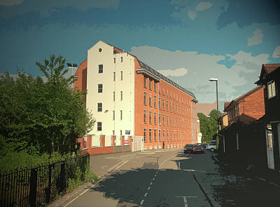 Britannia Mill On Markeaton Street, This Industrial Art Print by Litz Collection