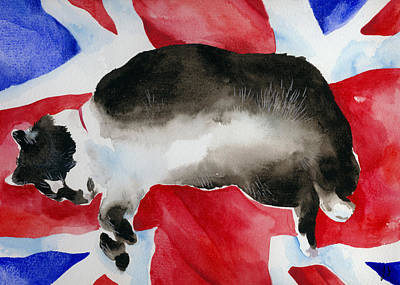 Fat Cat Wall Art - Painting - Britcat by Lydia Irving
