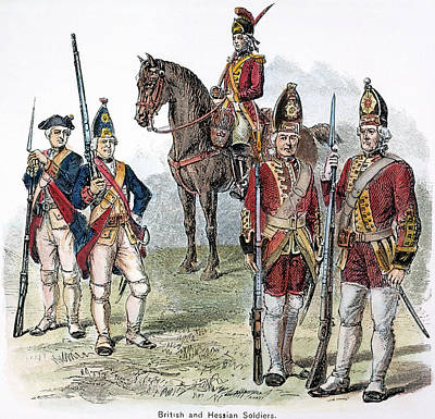 British & Hessian Soldiers Art Print by Granger
