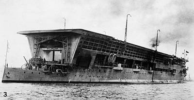 Photograph - British Aircraft Carrier by Granger
