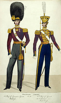 British Army Uniforms Art Print