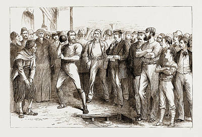 Athletic Drawing - British Athletic Sports At Alexandria, Egypt by Litz Collection