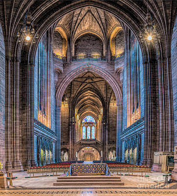 Aisle Photograph - British Cathedral by Adrian Evans
