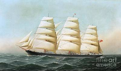 Painting - British Clipper Ship - Laomene by Roberto Prusso