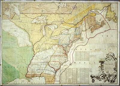 British Colonies In North America Print by British Library
