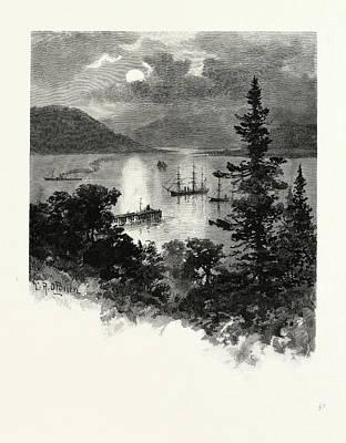 British Columbia Drawing - British Columbia, Esquimalt Harbour, Canada by Canadian School