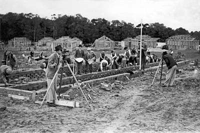 Photograph - British Construction Scene by Underwood Archives