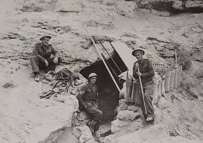 Hole In The Ground Photograph - British Defenders Of The Tobruk by Everett
