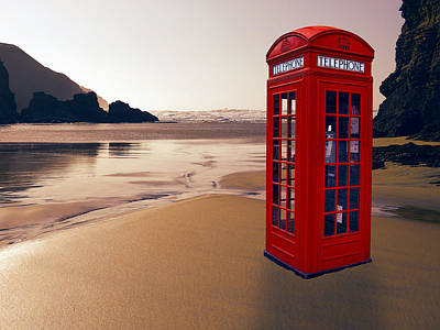 London Phone Booth Digital Art - British Empire by Daniel Hagerman