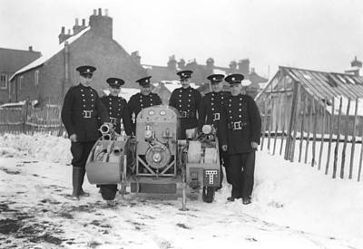 Photograph - British Firemen by Henri Bersoux