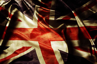 British Photograph - British Flag  by Les Cunliffe