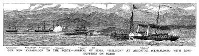Temeraire Painting - British Fleet, 1881 by Granger