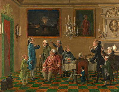British Gentlemen At Sir Horace Manns Home In Florence Art Print