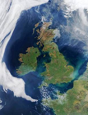 British Isles, Satellite Image Art Print by Science Photo Library