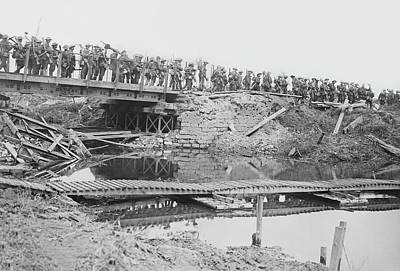 1910s Photograph - British Military Bridge by Library Of Congress