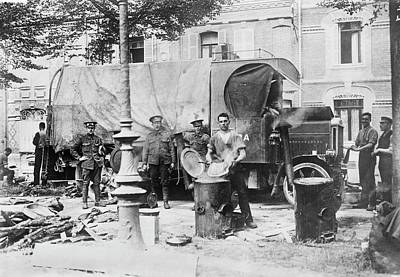 Amiens Photograph - British Military Kitchen by Library Of Congress