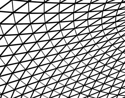 Glass Wall Photograph - British Museum Geometry by Rona Black