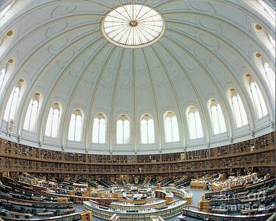 Bloomsbury Photograph - British Museum Reading Room by British Library