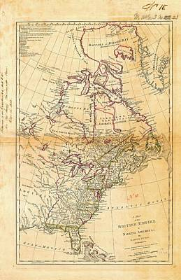 Cartography Photograph - British North America by American Philosophical Society