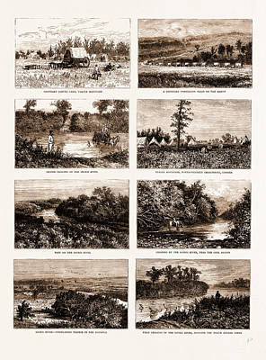 British North America Canada, 1881 On The South-western Art Print by Litz Collection