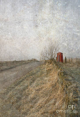 Country Lanes Digital Art - British Phone Box by Liz  Alderdice
