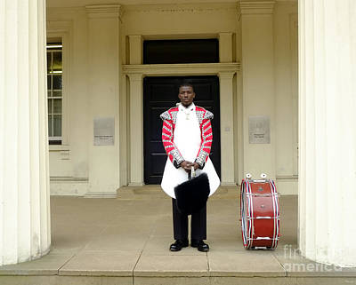 Drum Horse Photograph - British Royal Guard Standing by Andrew Chittock